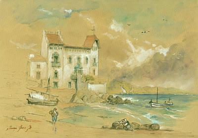 Casa Blava Cadaques Art Print by Juan Bosco