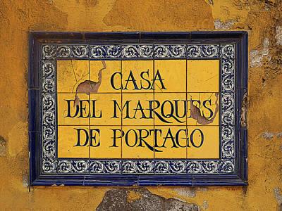 Photograph - Casa Del Marques De Portago by Herb Paynter