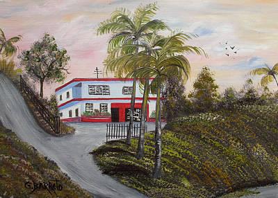 Casa En Montanas De Cerro Gordo Art Print by Gloria E Barreto-Rodriguez