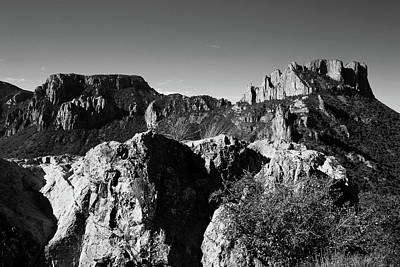 Photograph - Casa Grande Peak 3 Black And White by Judy Vincent