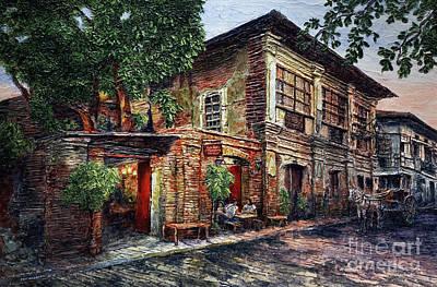 Painting - Casa Jardin, Vigan by Joey Agbayani
