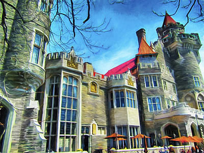 Photograph - Casa Loma Series 2 Painted Y1 by Carlos Diaz