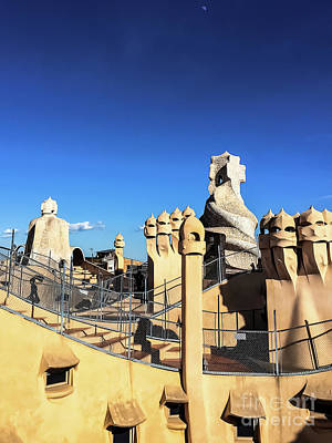 Photograph - Casa Mila Chimneys -barcelona by Colleen Kammerer