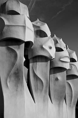 Photograph - Casa Mila Faces by Jonathan Hansen