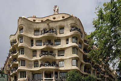 Photograph - Casa Mila In Barcelona, Spain by Blaz Gvajc