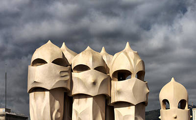 Casa Mila Masks Art Print by Farol Tomson