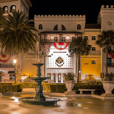 Photograph - Casa Monica At The Lightner Museum Fountain by Rob Sellers