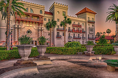 Photograph - Casa Monica Christmas by Joedes Photography