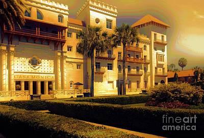 Mixed Media - Casa Monica Hotel St. Augustine Florida by Bob Pardue