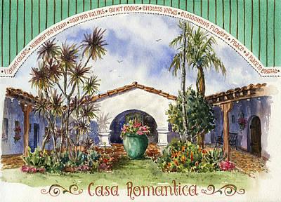 Casa Romantica Courtyard Art Print