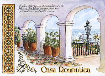 Casa Romantica Terrace Art Print