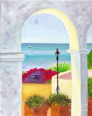 Casa Romantica View Art Print