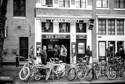 Photograph - Casa Rosso Sex Show by John Rizzuto