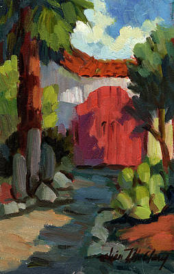 Construction Painting - Casa Tecate Gate by Diane McClary