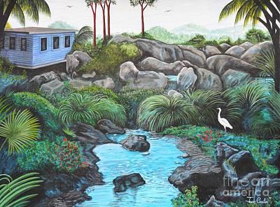 Casa Tropical Art Print by Juan Gonzalez