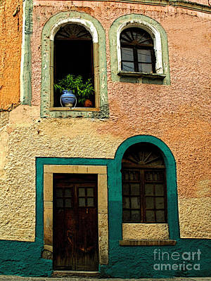 Casa With Sea Green Art Print by Mexicolors Art Photography