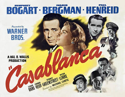 Blockbuster Photograph - Casablanca Movie Lobby Poster 1942 by Daniel Hagerman