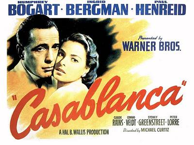 Casablanca Art Print by Movie Poster Prints