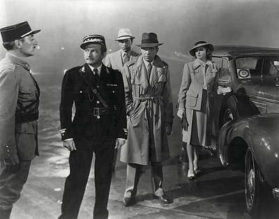 Bogart Photograph - Casablanca Movie Still  1942 by Daniel Hagerman