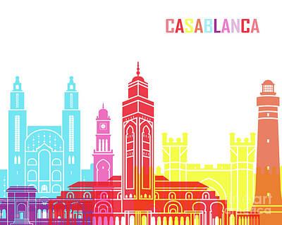 Casablanca Painting - Casablanca Skyline Pop by Pablo Romero
