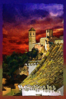 Rooftop Mixed Media - Casares Rooftops by Chris North