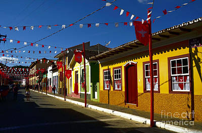 Photograph - Colonial Colofrul Houses At Sao Luiz Do Paraitinga - Brazil by Carlos Alkmin