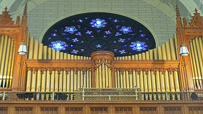 Photograph - Casavant Organ Pipes At Basilica Of St. Peter And St.paul by Mike Breau