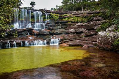 Photograph - Cascada De La Virgen Cano Cristales La Macarena Colombia by Adam Rainoff