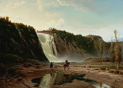 Carmignani Painting - Cascada Del Montmorenci by Guido Carmignani