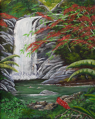 Cascada Tropical Art Print by Luis F Rodriguez