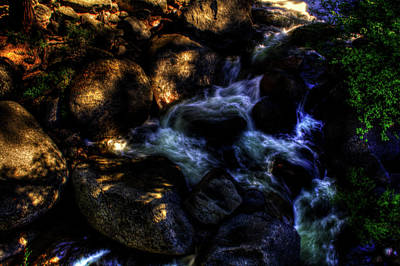 Photograph - Cascade Along The Tioga Pass Yosemite by Roger Passman