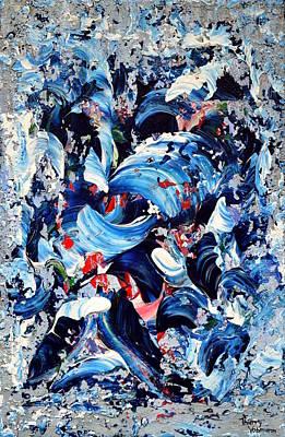 Cascade Bleue Art Print by Thierry Vobmann