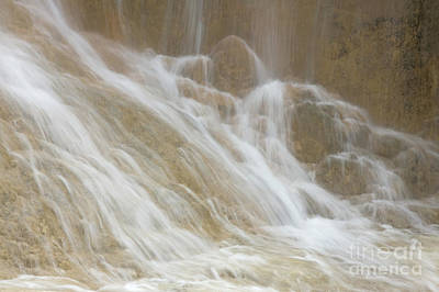 Cascade By The Limestone Pools In Huanglong Art Print by Julia Hiebaum