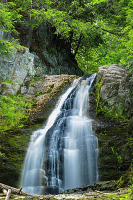 Art Print featuring the photograph Cascade Falls In South Portland In Maine by Ranjay Mitra
