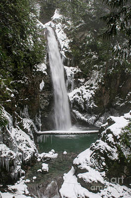Photograph - Cascade Falls In The Snow by Rod Wiens