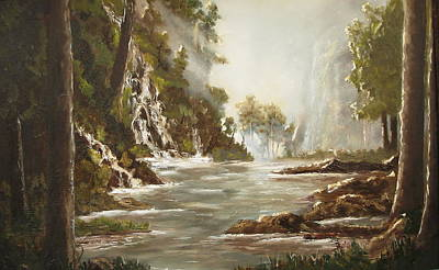 cascade I Art Print