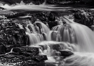Nantahala Photograph - Cascade In Black And White by Greg Mimbs