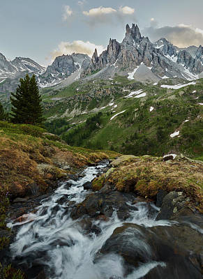 Photograph - Cascade In The Alps II by Jon Glaser