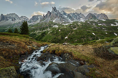 Photograph - Cascade In The Alps by Jon Glaser
