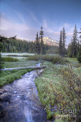 Sunriver Photograph - Cascade Morning by Twenty Two North Photography