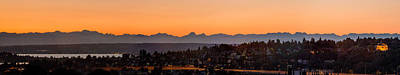 Photograph - Cascade Mountains At Dawn by E Faithe Lester