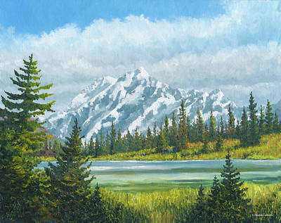Painting - Cascade Mountains by Douglas Castleman