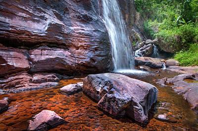 Photograph - Cascade Of Bambarella Saree Ella by Jenny Rainbow