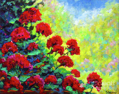 Gallery2 Painting - Cascade Of Geraniums by Richard T Pranke