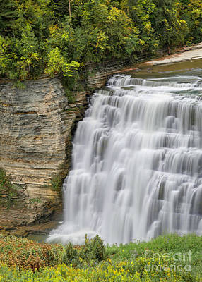 Photograph - Cascade Of Letchworth Middle Falls by Karen Jorstad