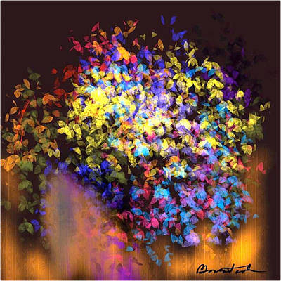 Wall Art - Painting - Cascade Of Wildflowers by Alexis Bonavitacola