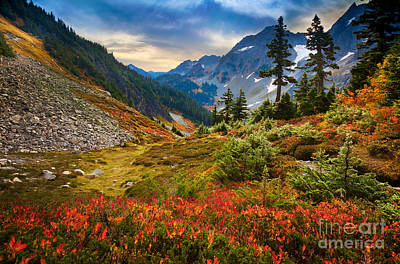 Mountainous Photograph - Cascade Pass Fall by Inge Johnsson