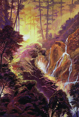 Painting - Cascade Ravine by David Lloyd Glover