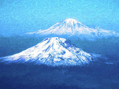 Mixed Media - Cascade Volcanoes by Dennis Cox Photo Explorer