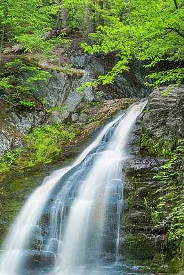 Art Print featuring the photograph Cascade Waterfalls In South Maine by Ranjay Mitra